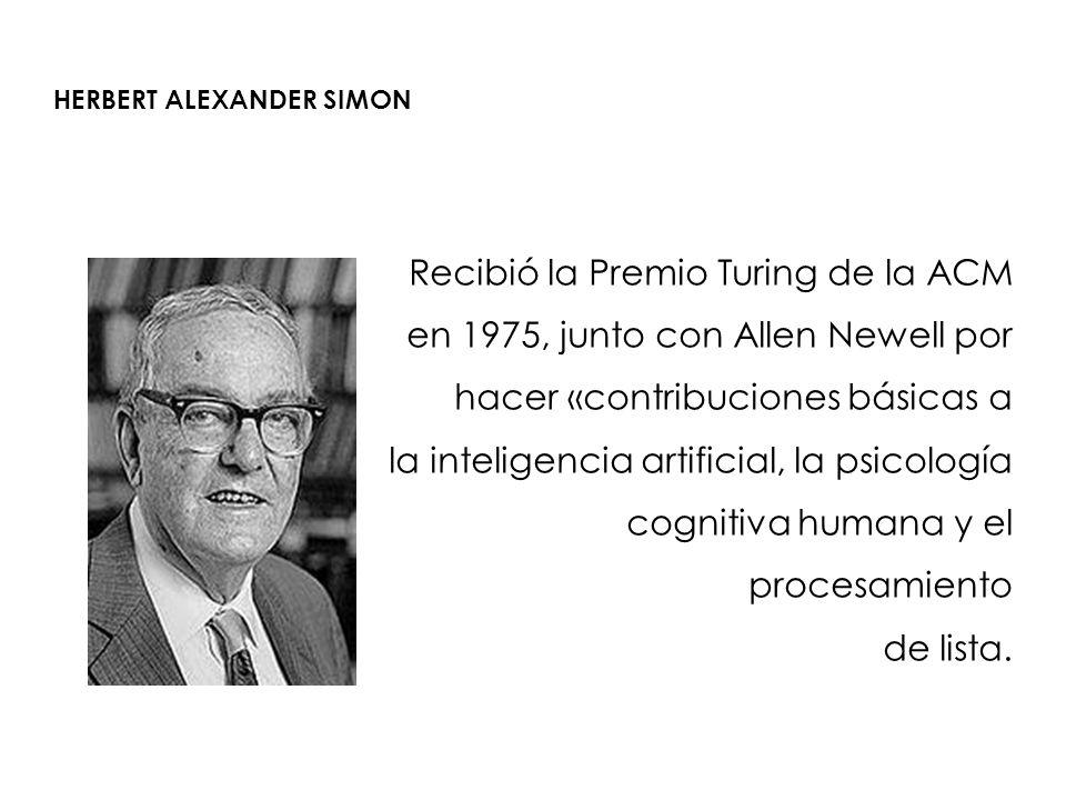 HERBERT ALEXANDER SIMON