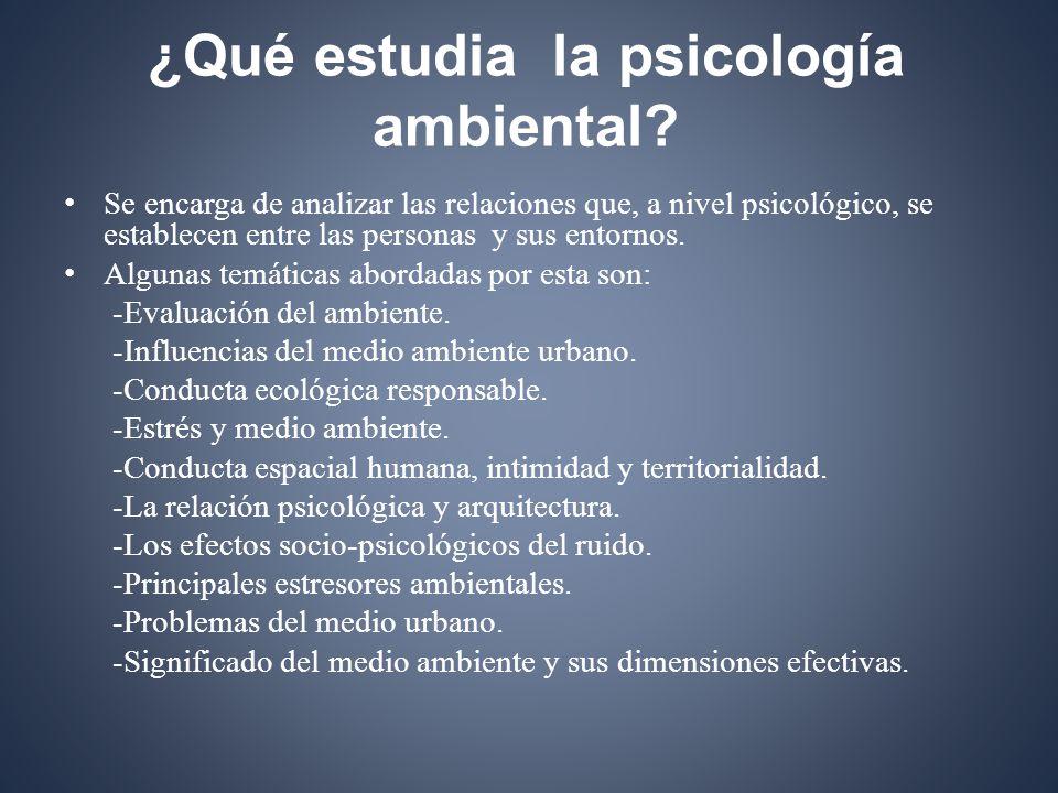 ¿Qué estudia la psicología ambiental