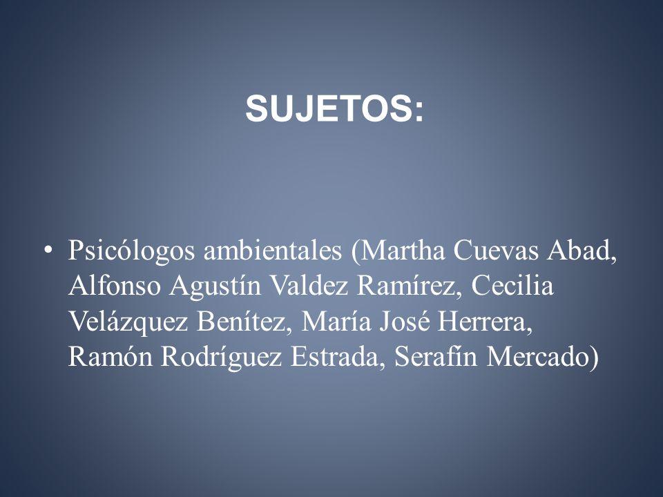 SUJETOS: