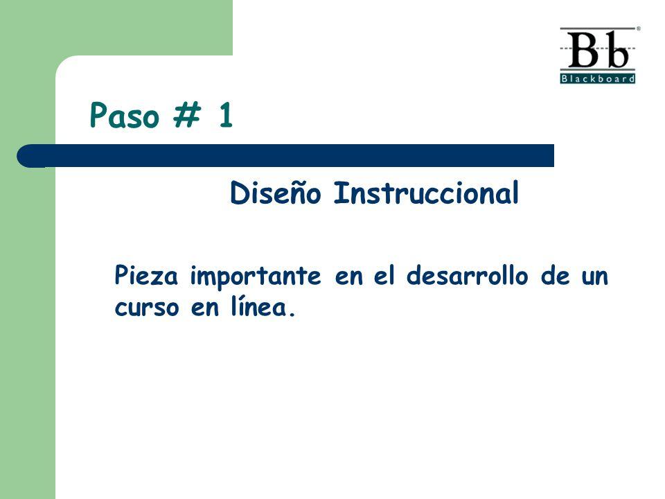 Paso # 1 Diseño Instruccional