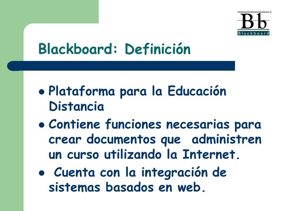 Blackboard: Definición