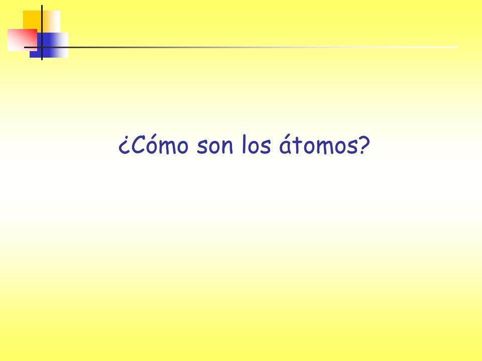 ¿Cómo son los átomos