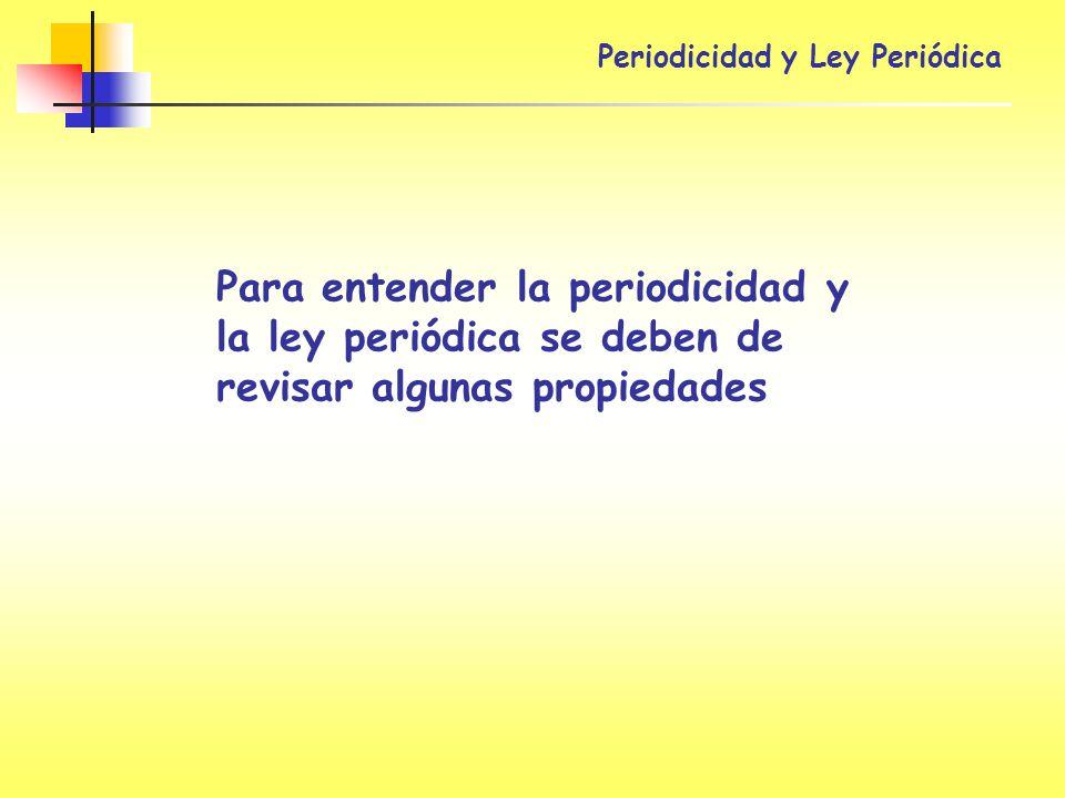 Periodicidad y Ley Periódica
