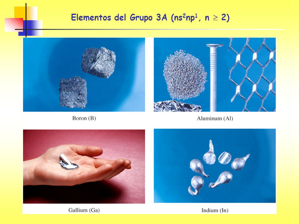 Elementos del Grupo 3A (ns2np1, n  2)