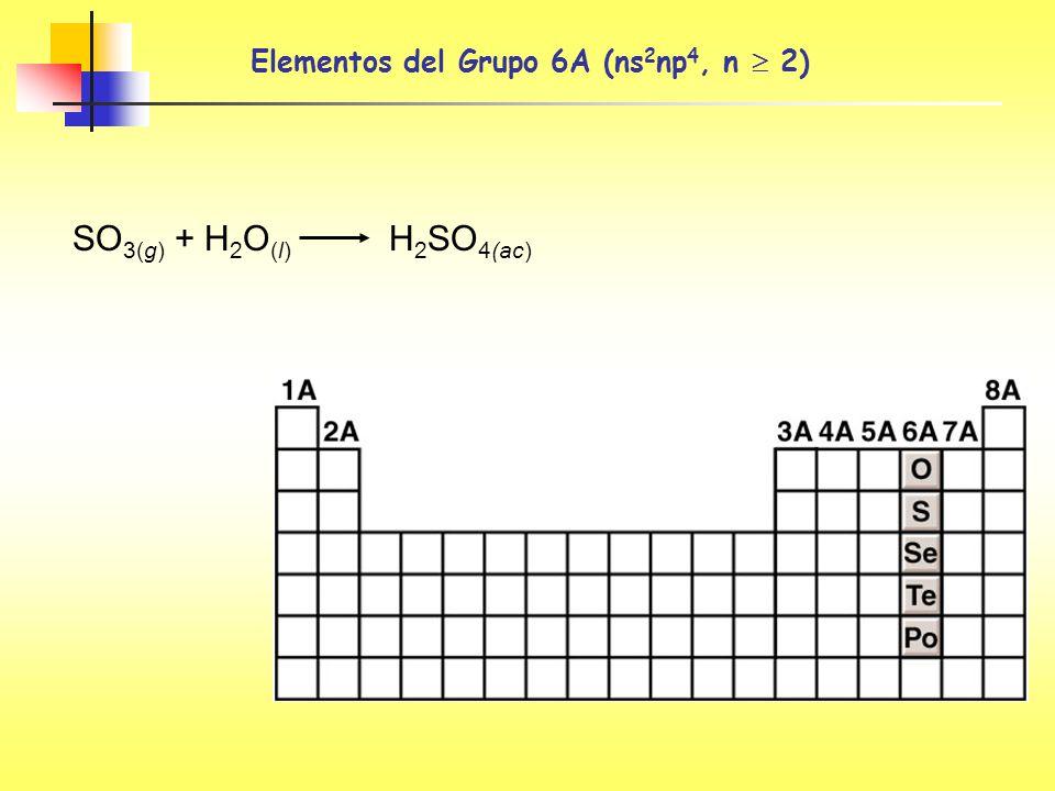 Elementos del Grupo 6A (ns2np4, n  2)