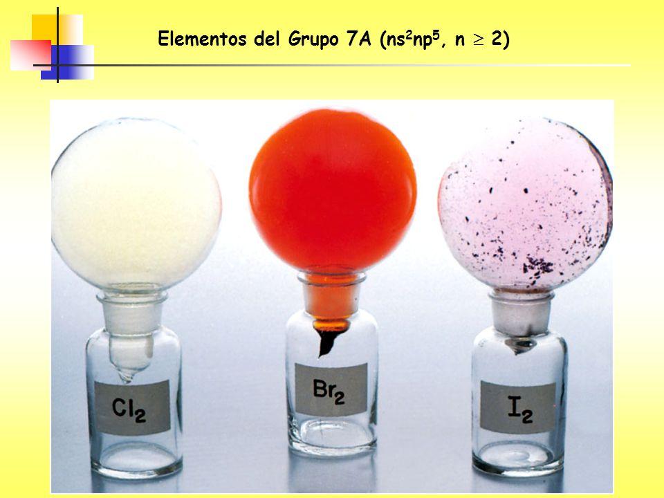 Elementos del Grupo 7A (ns2np5, n  2)
