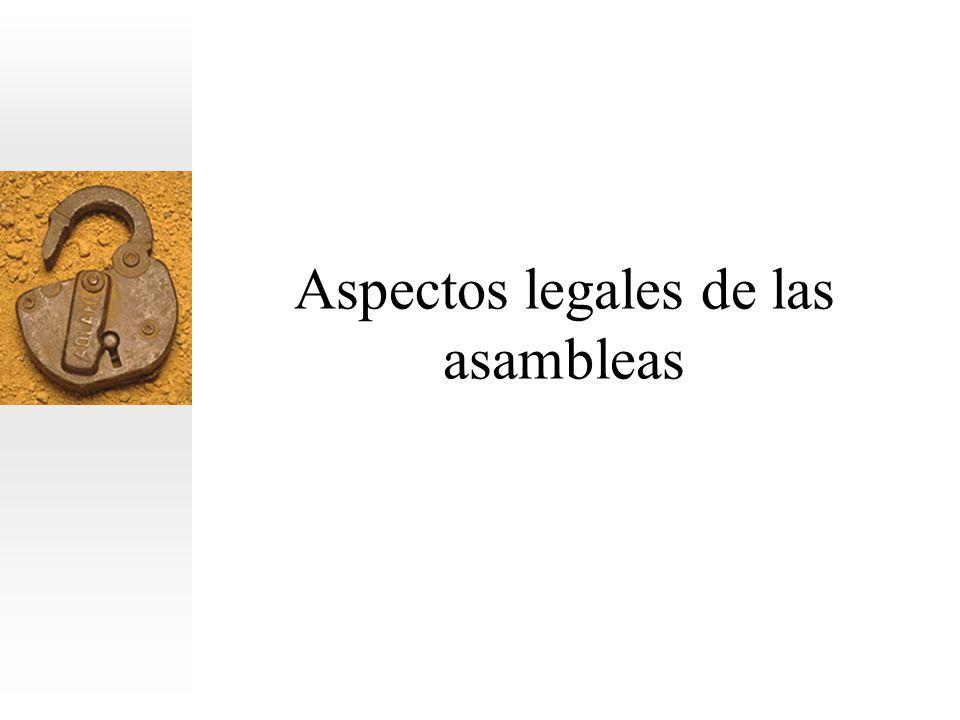 Aspectos legales de las asambleas