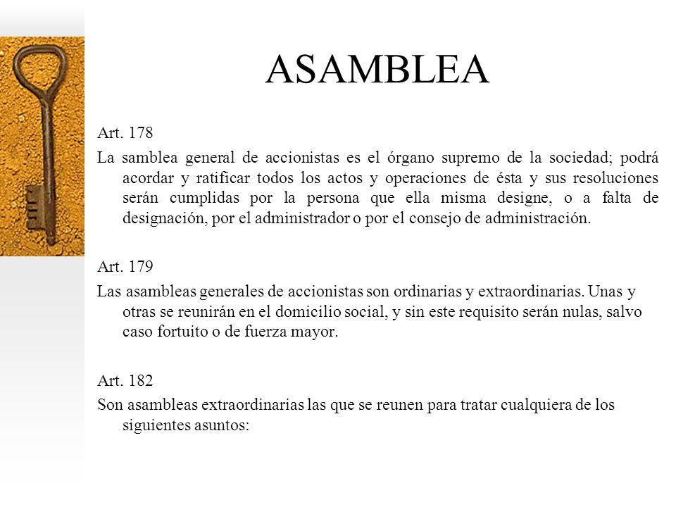 ASAMBLEA Art. 178.