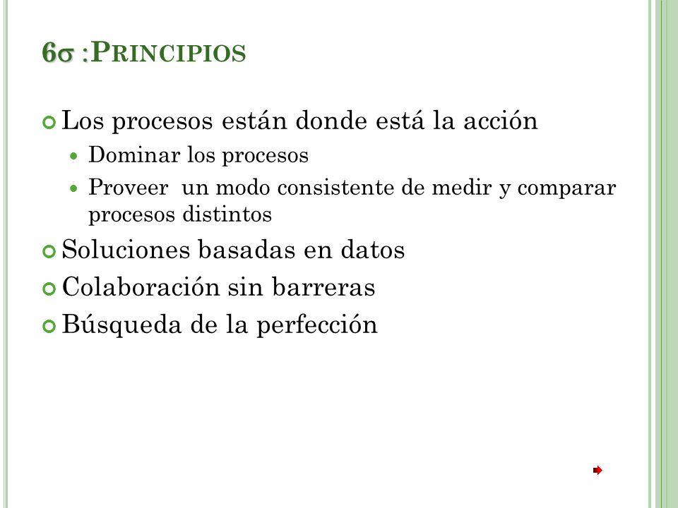 6 :Principios Los procesos están donde está la acción