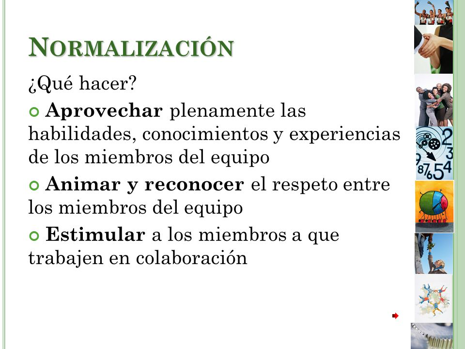 Normalización ¿Qué hacer