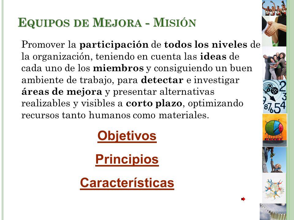 Equipos de Mejora - Misión