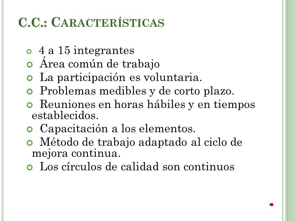 C.C.: Características Área común de trabajo