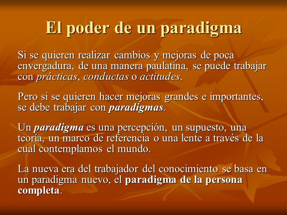 El poder de un paradigma