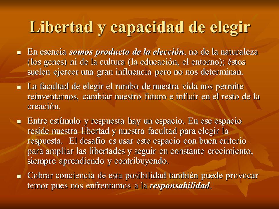 Libertad y capacidad de elegir