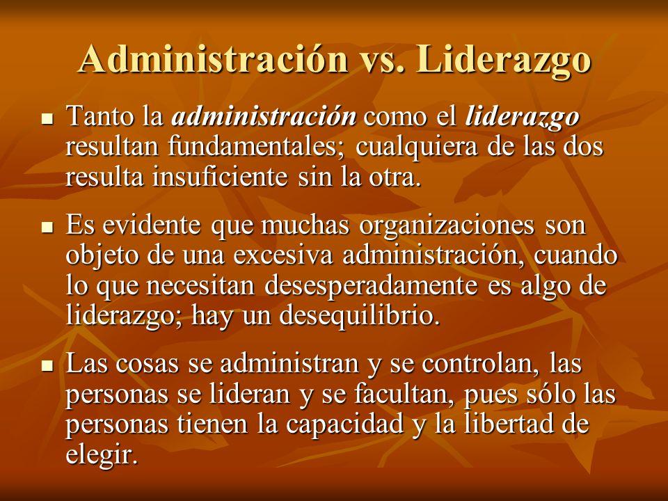 Administración vs. Liderazgo