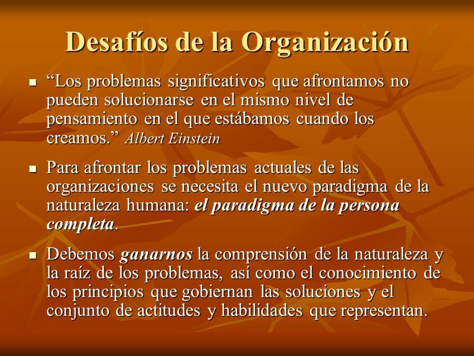 Desafíos de la Organización