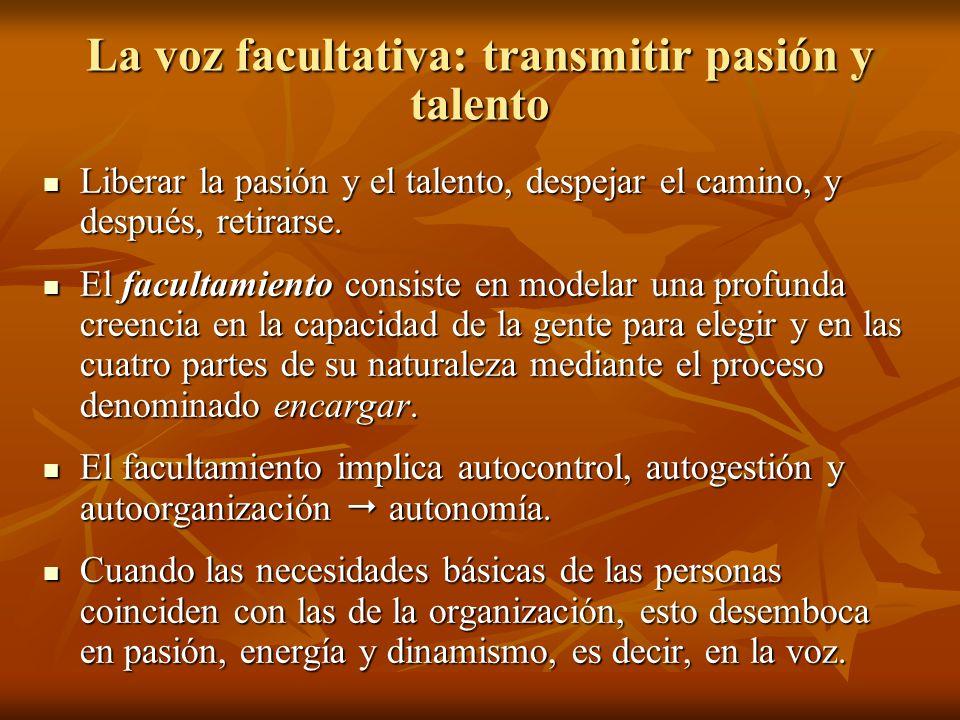 La voz facultativa: transmitir pasión y talento