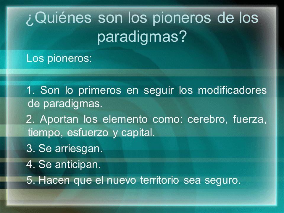 ¿Quiénes son los pioneros de los paradigmas