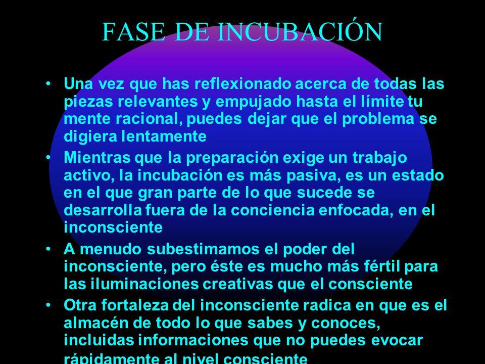 FASE DE INCUBACIÓN