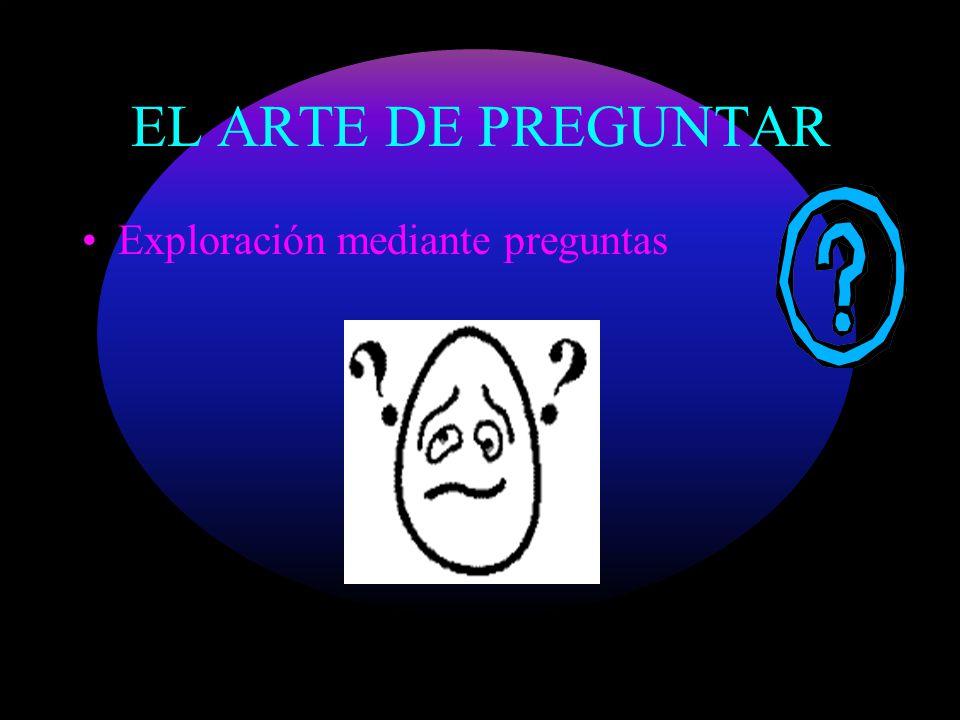 EL ARTE DE PREGUNTAR Exploración mediante preguntas