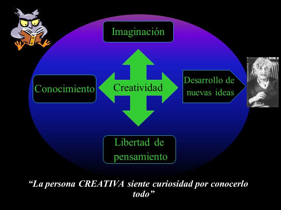 La persona CREATIVA siente curiosidad por conocerlo todo