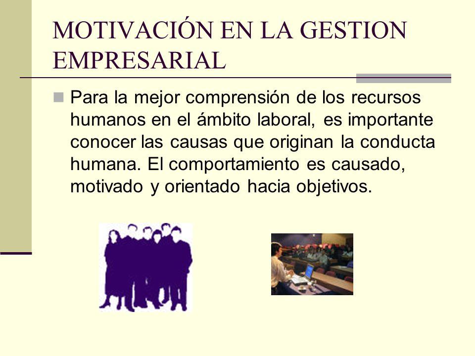 MOTIVACIÓN EN LA GESTION EMPRESARIAL