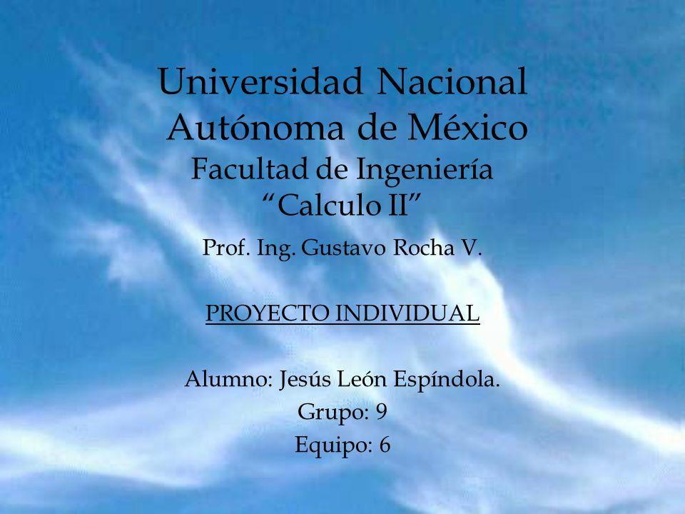 Universidad Nacional Autónoma de México Facultad de Ingeniería Calculo II