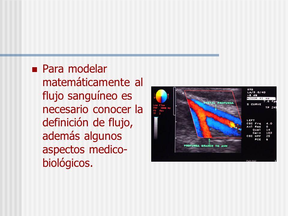 Para modelar matemáticamente al flujo sanguíneo es necesario conocer la definición de flujo, además algunos aspectos medico-biológicos.