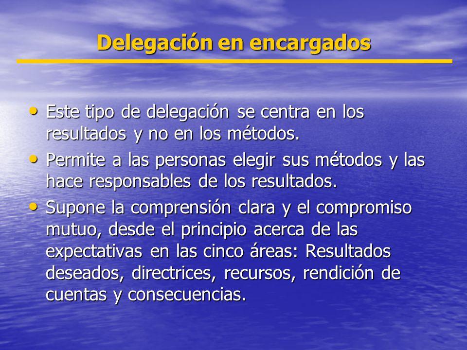 Delegación en encargados