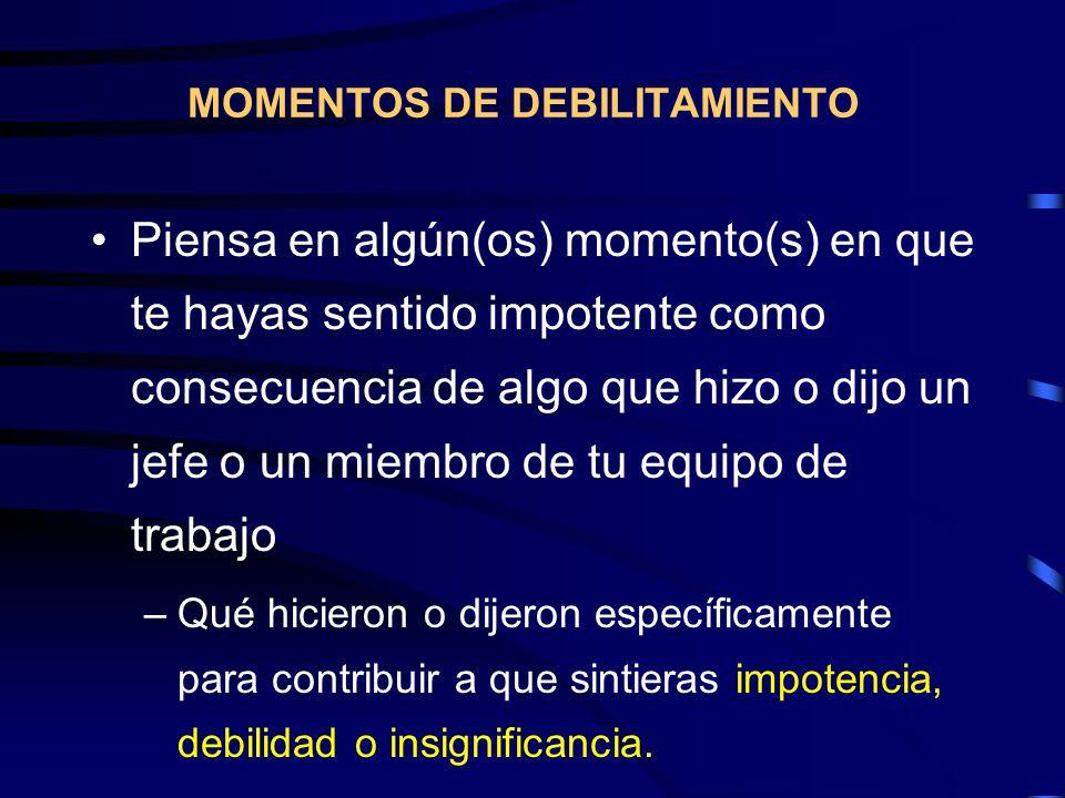 MOMENTOS DE DEBILITAMIENTO