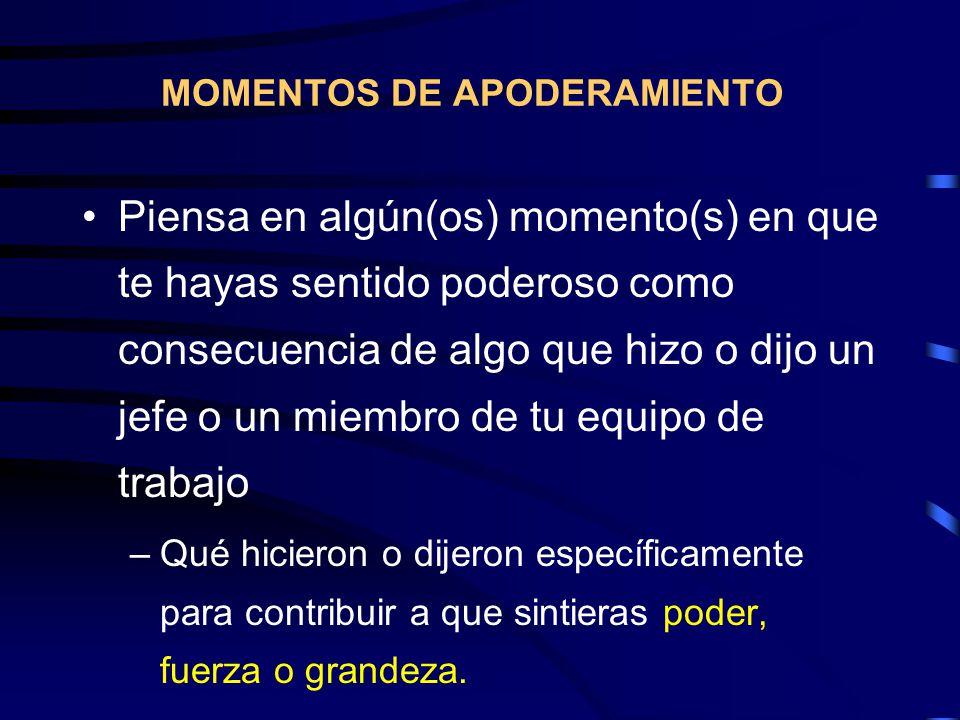 MOMENTOS DE APODERAMIENTO