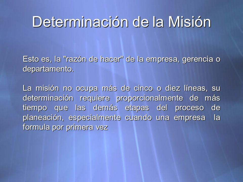 Determinación de la Misión