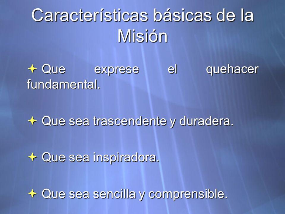 Características básicas de la Misión