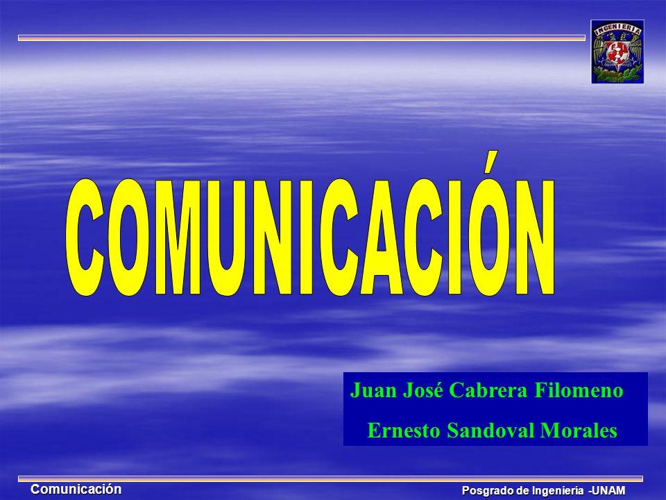 COMUNICACIÓN Juan José Cabrera Filomeno Ernesto Sandoval Morales