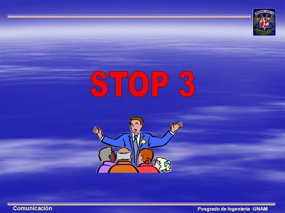 STOP 3 Comunicación