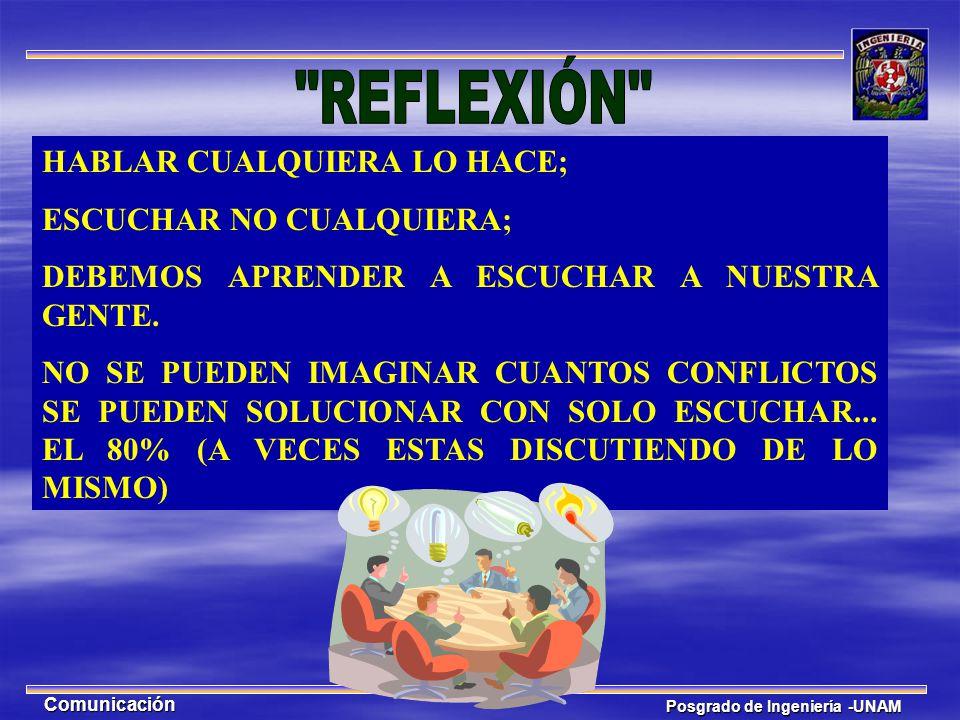 REFLEXIÓN HABLAR CUALQUIERA LO HACE; ESCUCHAR NO CUALQUIERA;