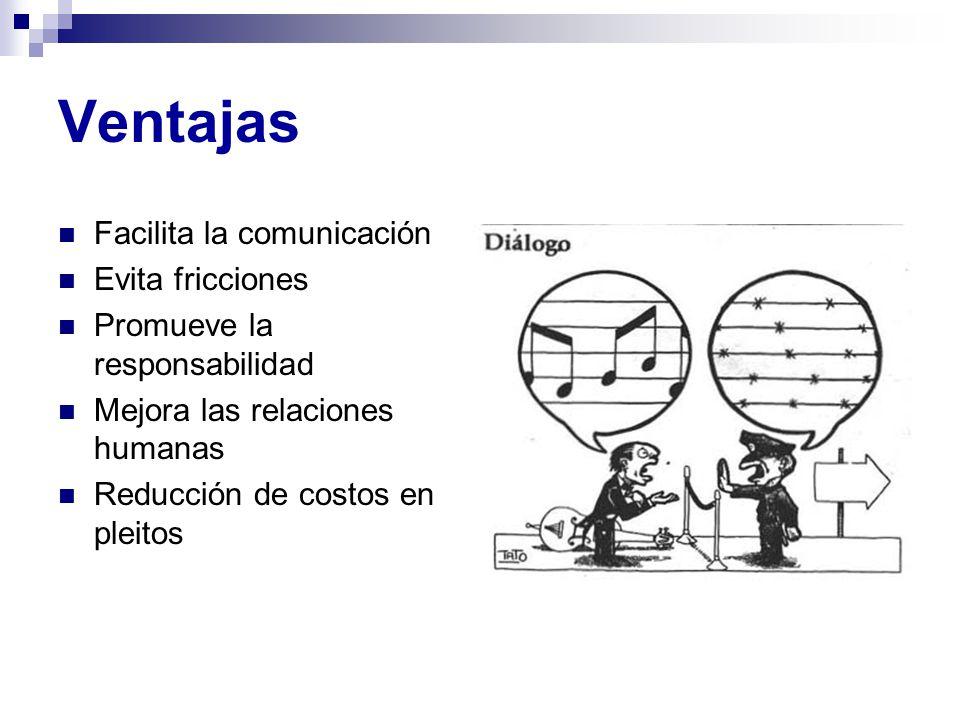 Ventajas Facilita la comunicación Evita fricciones