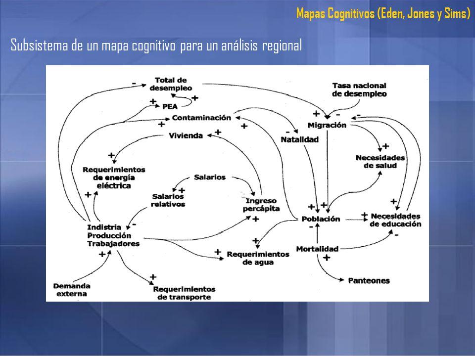 Subsistema de un mapa cognitivo para un análisis regional
