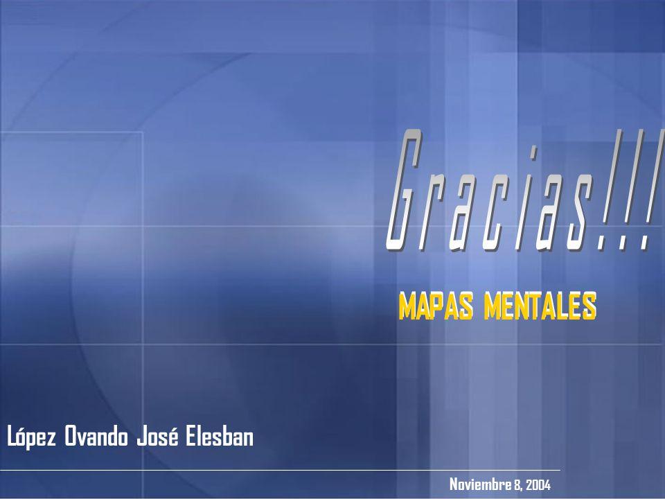 Gracias!!! MAPAS MENTALES MAPAS MENTALES López Ovando José Elesban