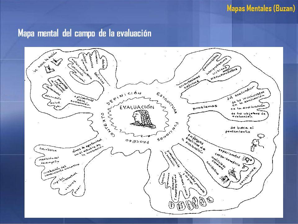 Mapa mental del campo de la evaluación