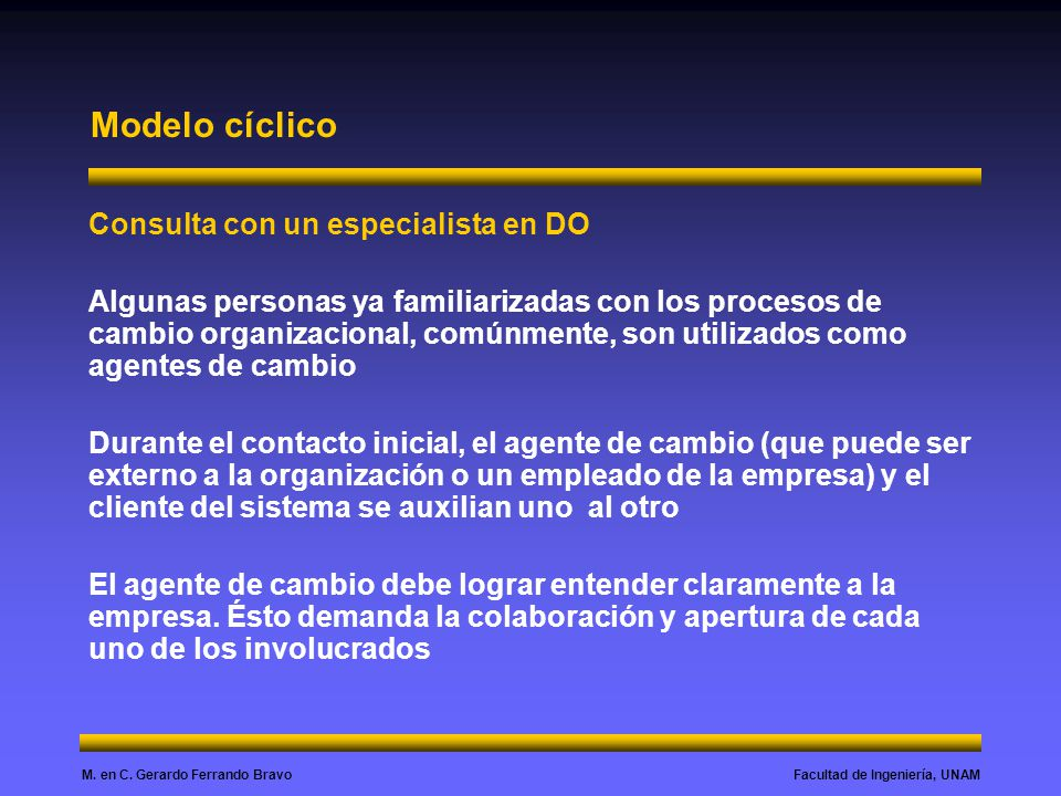 Modelo cíclico Consulta con un especialista en DO