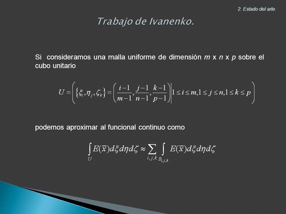 Trabajo de Ivanenko. 2. Estado del arte. Si consideramos una malla uniforme de dimensión m x n x p sobre el cubo unitario.
