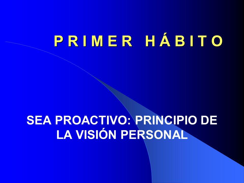 SEA PROACTIVO: PRINCIPIO DE LA VISIÓN PERSONAL