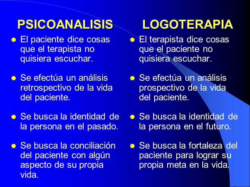 PSICOANALISIS LOGOTERAPIA