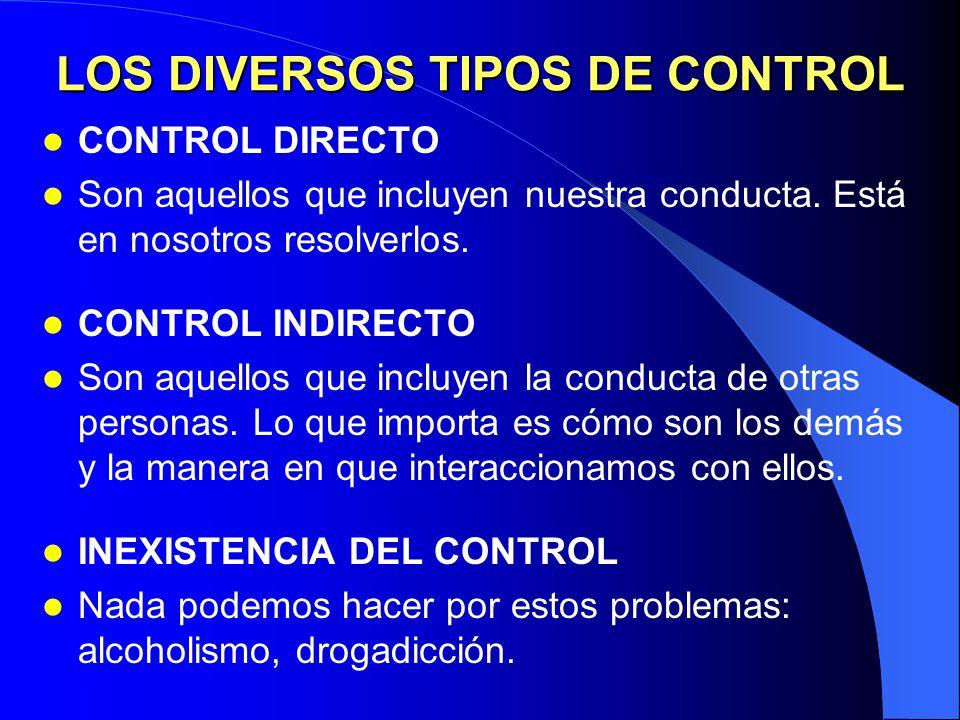 LOS DIVERSOS TIPOS DE CONTROL