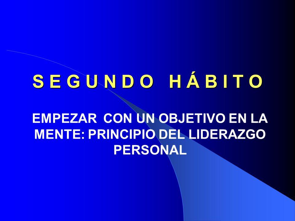 EMPEZAR CON UN OBJETIVO EN LA MENTE: PRINCIPIO DEL LIDERAZGO PERSONAL
