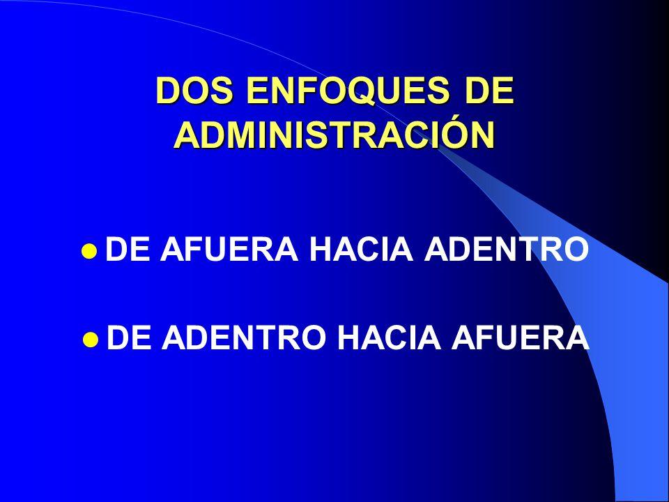 DOS ENFOQUES DE ADMINISTRACIÓN