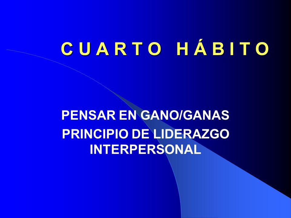 PENSAR EN GANO/GANAS PRINCIPIO DE LIDERAZGO INTERPERSONAL