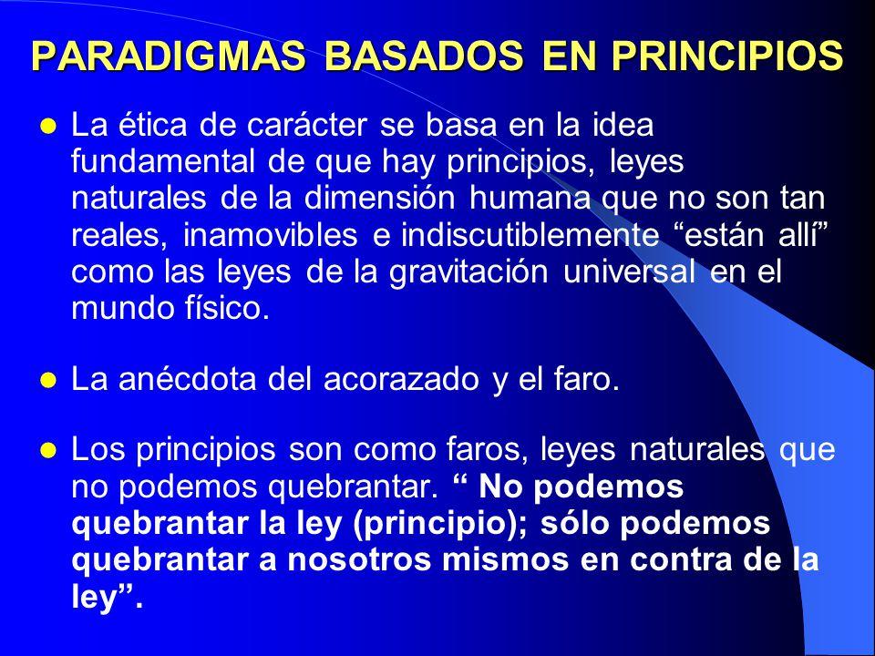 PARADIGMAS BASADOS EN PRINCIPIOS