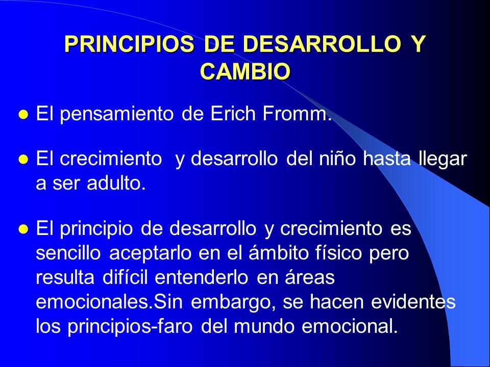 PRINCIPIOS DE DESARROLLO Y CAMBIO